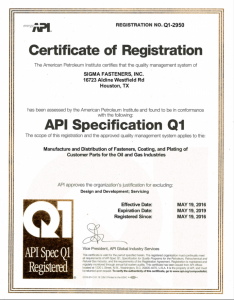 API Specification Q1-2950